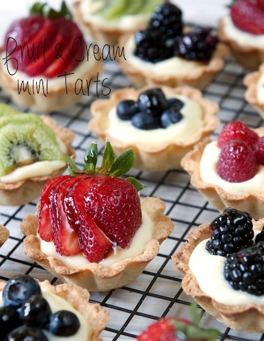 fruit & cream mini tarts